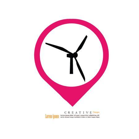 Wind turbine icon vector illustration.