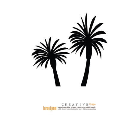 palm tree icon.vector illustration.eps10.