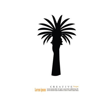palm tree icon.vector illustration.eps10.