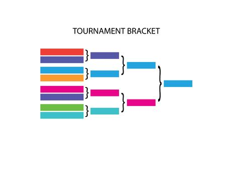 playoff: blank sport tournament bracket on  background.vector illustration.