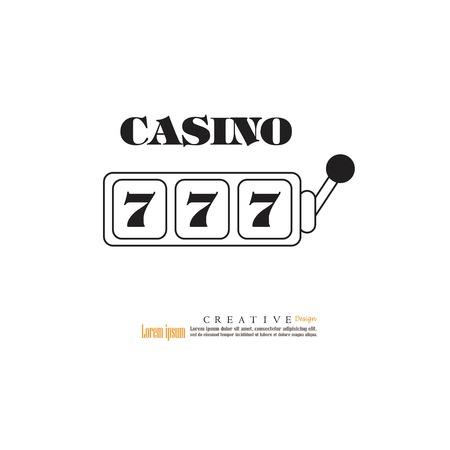 spinning: slot machine with lucky seven jackpot.vector illustration. Illustration