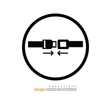 fasten: Safety belt. Seat Belt. Vector Illustration