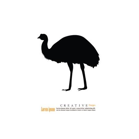 emu icon.vector illustration.