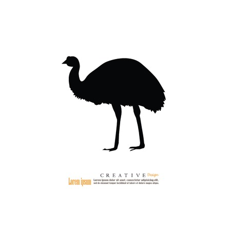 emu: emu icon.vector illustration.