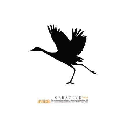 black foot: flamingo icon.vector illustration.