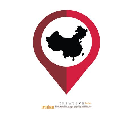 Outline Map Of China Vector Illustration. Royalty Free Cliparts ...