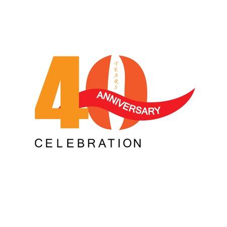 40 years anniversary.vector illustration.eps10. Illusztráció