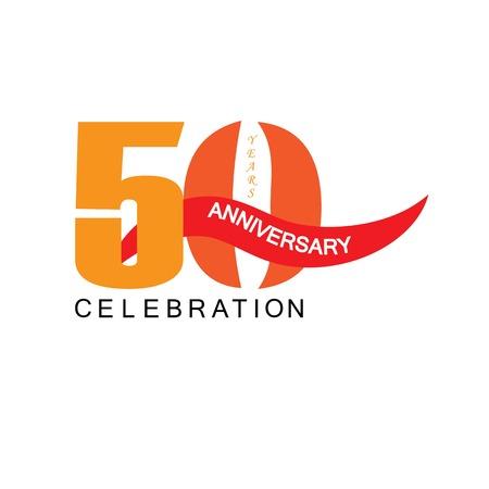 50 jaar verjaardag.vector illustration.eps10. Stock Illustratie