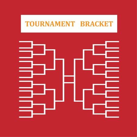 tourney: blank sport tournament bracket on  background.vector illustration.