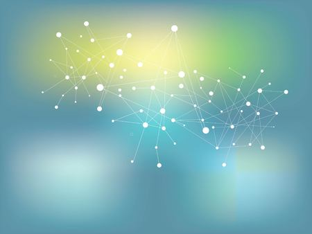 Virtual abstract background with particle, molecule structure. genetic and chemical compounds. Space and constellations. Science and connection concept. Social network.vector illustration. Illustration