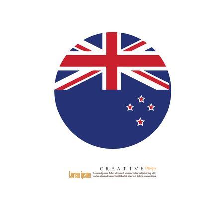 New Zeland national flag background texture.vector illustration. Illustration