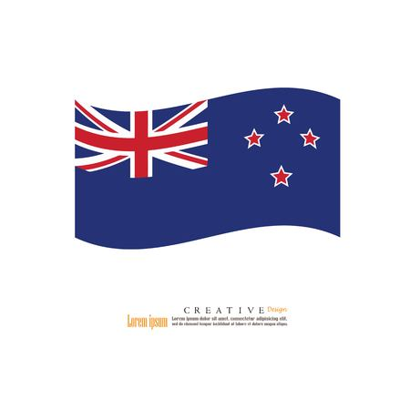 New Zeland national flag background texture.vector illustration. Çizim