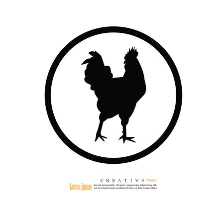 French hen on white background, vector illustration.