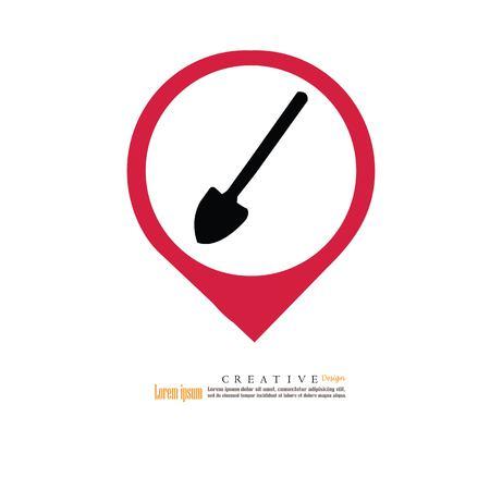 Shovel icon. vector Illustration. Illustration