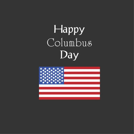Columbus Day,the discoverer of America,usa flag .holiday banner.Vector illustration.