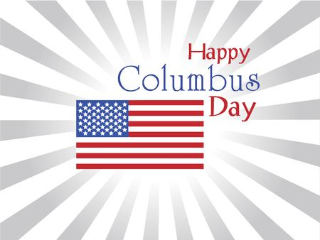 Columbus Day,the discoverer of America,usa flag .holiday banner. Illustration