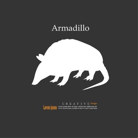 Armadillo.vector illustration.