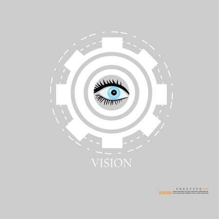 human being futuristic vision, vision and control and protection of persons, control and security in the accesses.Concept of: dna system, scientific technology and science.vector illustration.