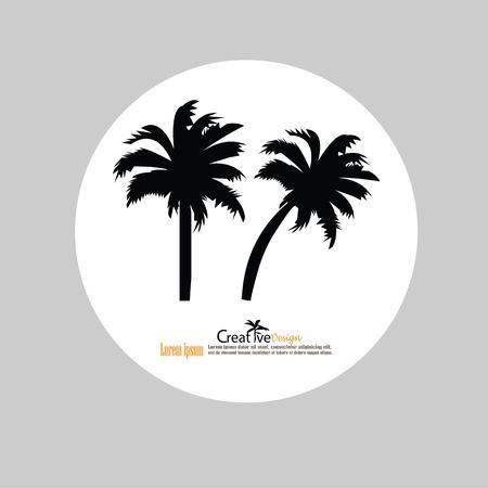 Beach tree icon. Illustration
