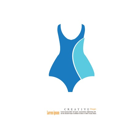 Swimsuit icon.vector illustration.