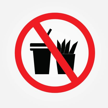 No cooking sign.no food or drink allowed .vector illustration.
