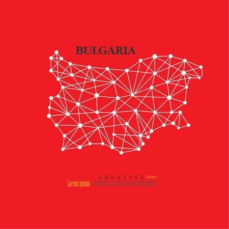 outline map of Bulgaria  vector illustration.