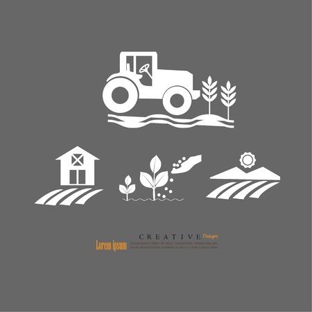 farm icon . Agriculture icon.vector illustration. Illustration