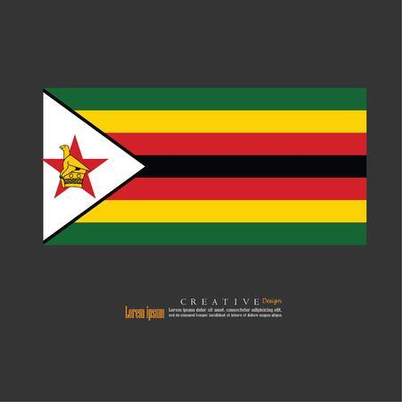 Struttura del fondo della bandiera nazionale dello Zimbabwe Illustrazione di vettore. Archivio Fotografico - 89976089