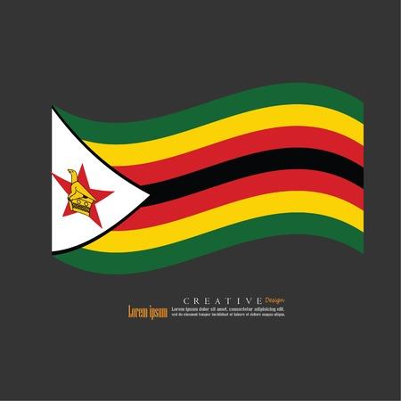 Struttura del fondo della bandiera nazionale dello Zimbabwe Illustrazione di vettore. Archivio Fotografico - 89976095