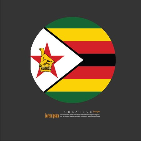 Zimbabwe national flag background texture.vector illustration. Çizim