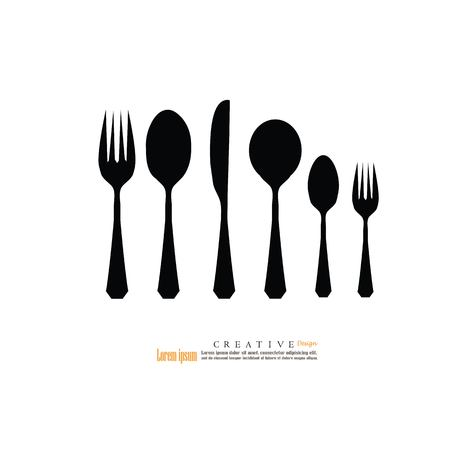 spoon and fork icon.vector illustration.