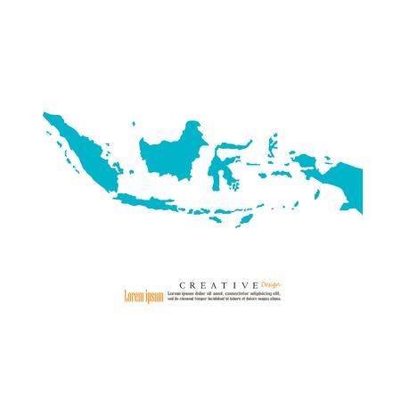 Een overzichtskaart van Indonesië. vectorillustratie op witte achtergrond.