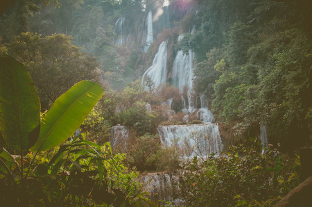 Tee lor su waterfall.famous travel place at Tak, Thailand