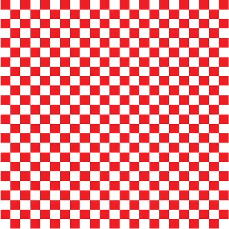 red and white chessboard pattern.vector illustration. Ilustração