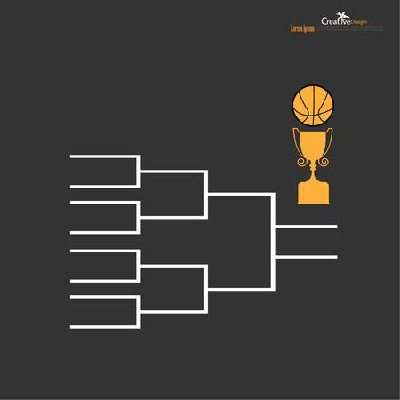 blank sport tournament bracket on  background.vector illustration.