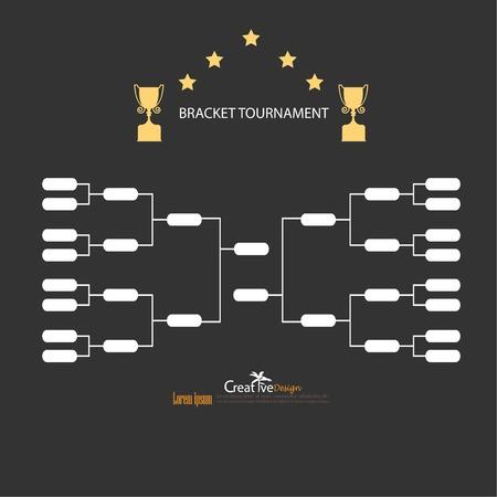 blank sport tournament bracket on  background.vector illustration.