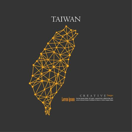 outline map of Taiwan. vector illustration.