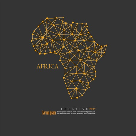 outline map of Africa. vector illustration.