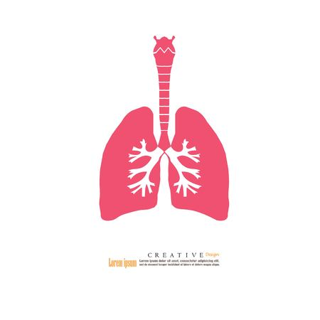 Lungs icon vector illustration.