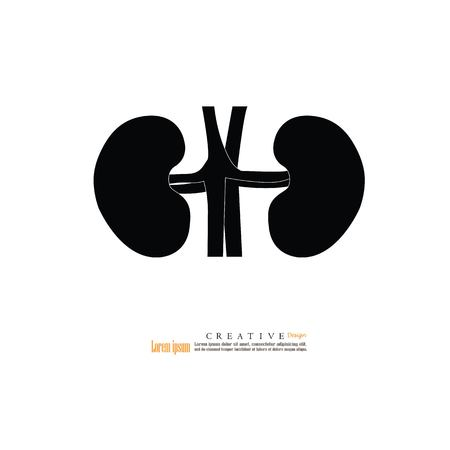 Kidney icon.vector illustration. Illustration