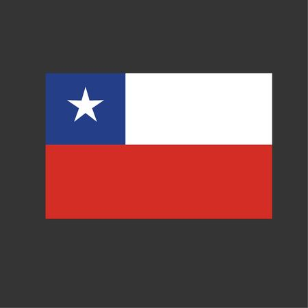 Chile national flag background texture vector illustration. Vettoriali