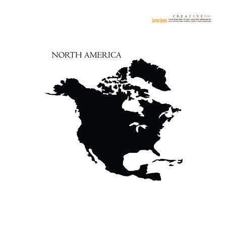 北米マップベクトル図。  イラスト・ベクター素材