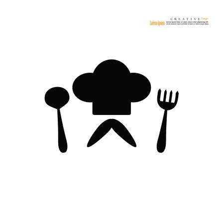 Chef icon symbol vector illustration.  イラスト・ベクター素材