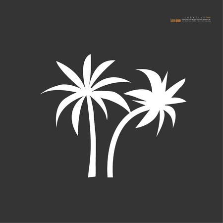 A coconut tree icon vector illustration.