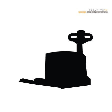 Forklift icon vector illustration isolated on white background Ilustração