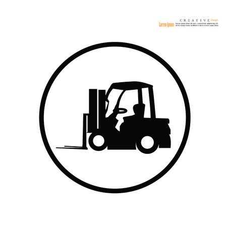 Forklift icon vector illustration isolated on white background Illustration