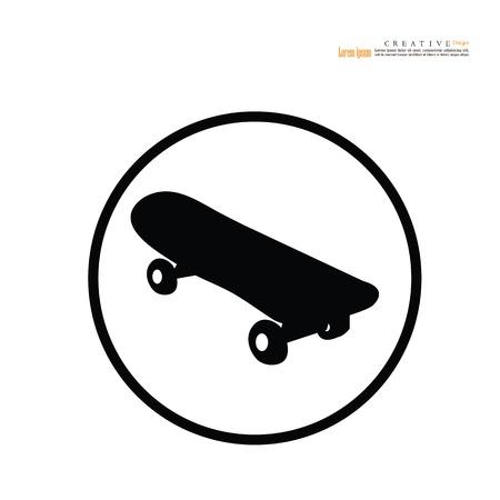 skateboard icon.vector illustration.  イラスト・ベクター素材