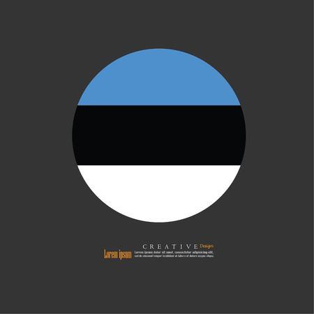 Estonia national flag background texture.vector illustration. Illustration