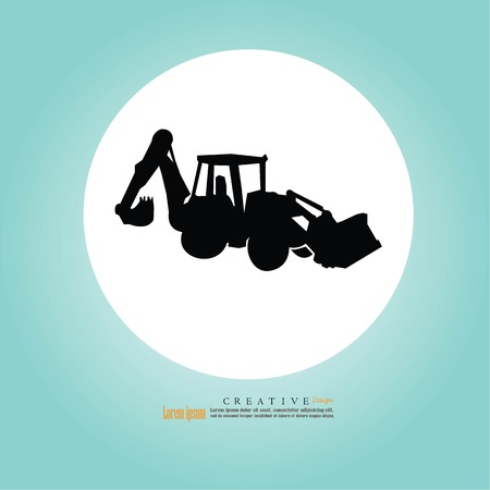 tracktor and backhoe car icon.vector illustration.eps10. Imagens - 100452477