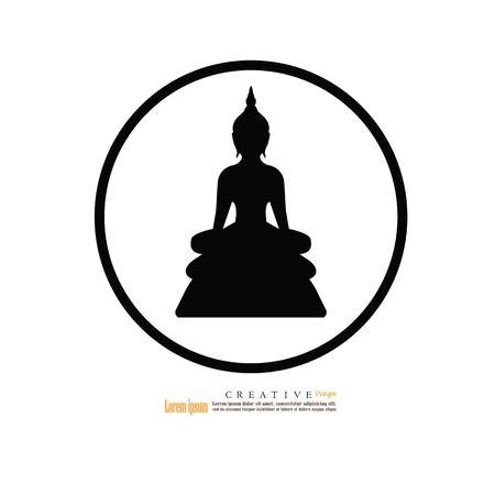 Thai Buddha.buddha.vector illustration.